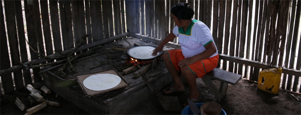Preparation of Casabe in Siona Community