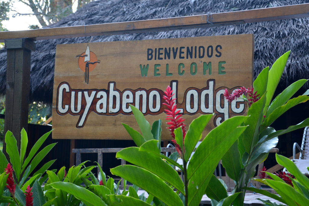 Cuyabeno Lodge Welcome Sign